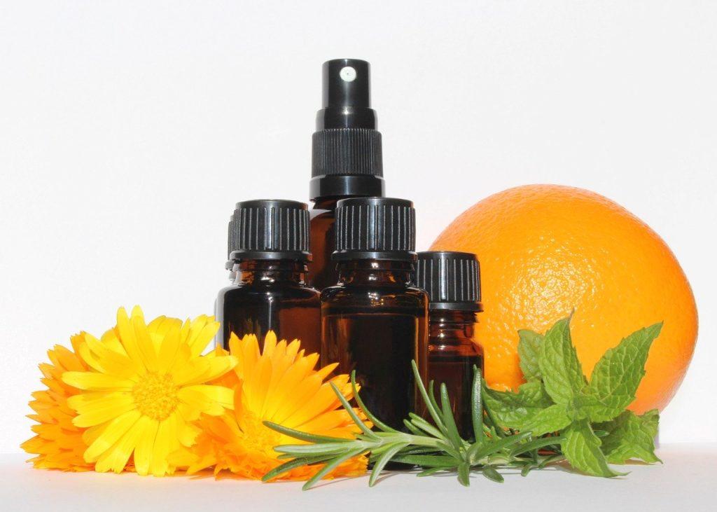 essential oils, bottles, aromatherapy