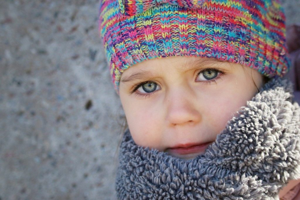 people, winter, child